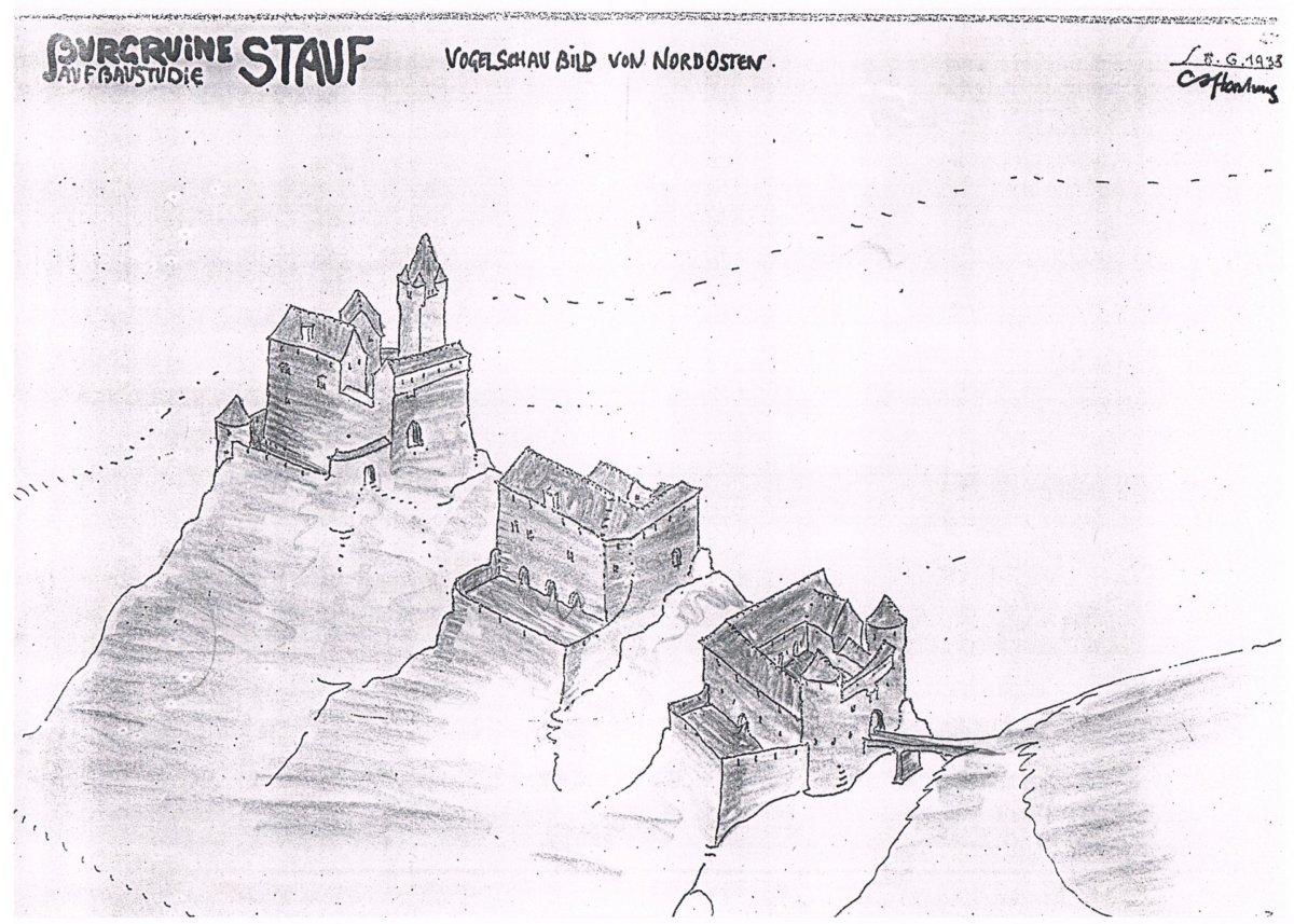 Aufbauzeichnungen nach Dr. Ing. Walter Hartung (1933)