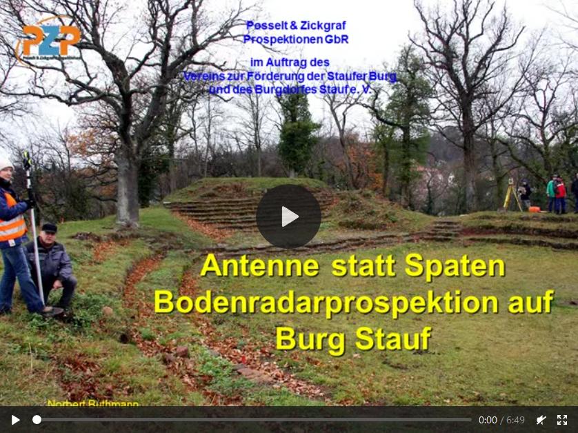 Bodenradarprospektion auf der Burg Stauf