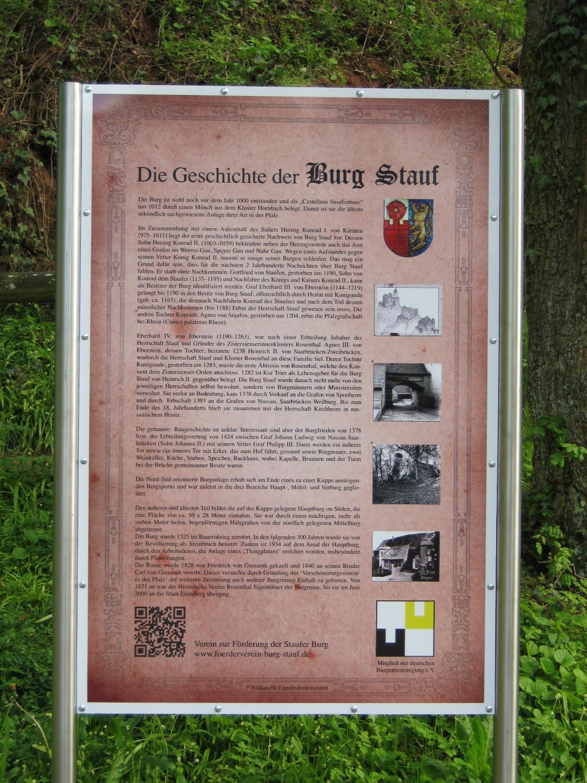 Die Geschichte der Burg Stauf