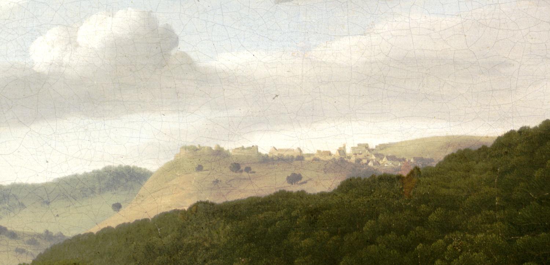 Gemälde der Burg Stauf