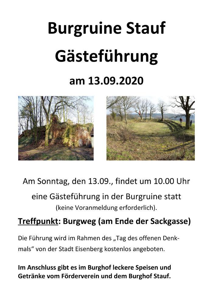 Burg Stauf offene Fuehrung 13.09.2020